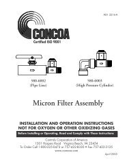 Micron Filter Assembly INSTALLATION AND OPERATION ... - Concoa