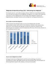 Mitgliederzufriedenheitsumfrage 2012 - DIHA befragt ihre ... - Albanien