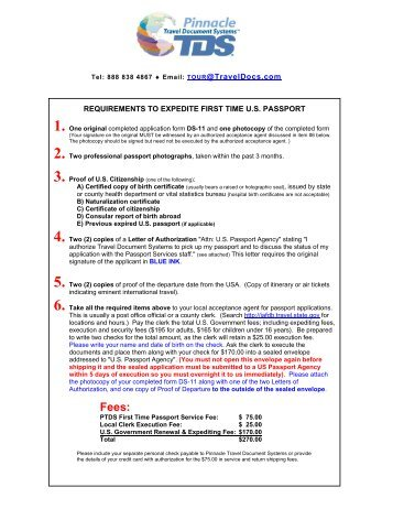 requirements to expedite first time us passport - Travel Document ...