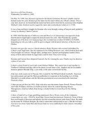 Interview with Gary Kremen Wednesday November ... - Deep Capture