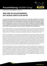 Pressemitteilung SALEWA Group