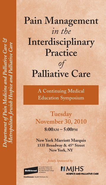 View the program - Department of Pain Medicine and Palliative Care