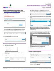 Healthlink FedEx Office® Print Online Corporate - Catalog Quick ...