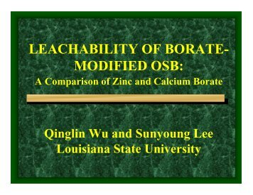 leachability of borate- modified osb - Louisiana State University