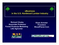 eBusiness in the U.S. Hardwood Lumber Industry - Louisiana Forest ...