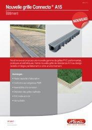 Nouvelle grille Connecto® A15 - Nicoll