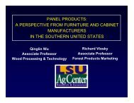 panel products: a perspective from furniture and cabinet ...