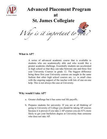 Why Choose AP.pdf - St. James Collegiate