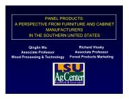 panel products - Louisiana Forest Products Development Center