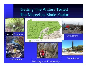Introduction to Groundwater, Private Wells, Groundwater Quality ...