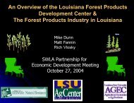 An Overview of the Louisiana Forest Products Development Center ...