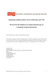 Optimising antibiotic policies in the Netherlands, part VIII ... - SWAB