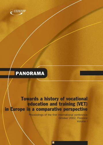 Towards a history of vocational education and training (VET) - Europa