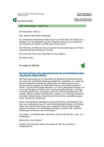 Idt Blickpunkt Dezember 2007indd Am Institut Für Systemisches