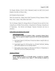 Council Minutes Monday, August 23, 2010 - City Of St. John's