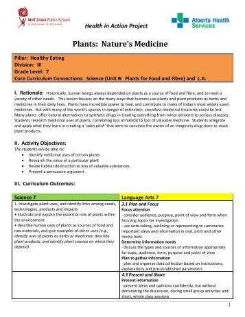 Medicinal Uses For Plants