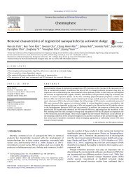 Removal characteristics of engineered nanoparticles by activated ...