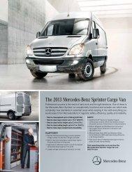 The 2013 Mercedes-Benz Sprinter Cargo Van - TheSprinter.ca