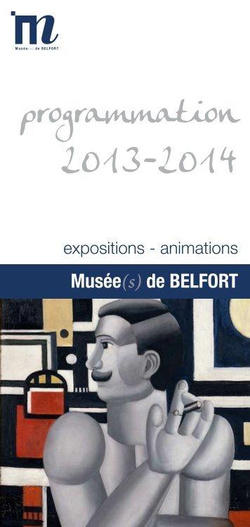 Programmation 2013 des musées de Belfort (PDF, 1,4 Mo)