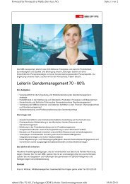 Leiter/in Gendermanagement 70 - 80% - Gleichstellungs-Controlling