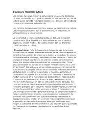 Diccionario filosófico: Cultura - Materiales y recursos