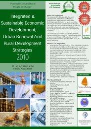 Integrated & Sustainable Economic Development, Urban Renewal ...