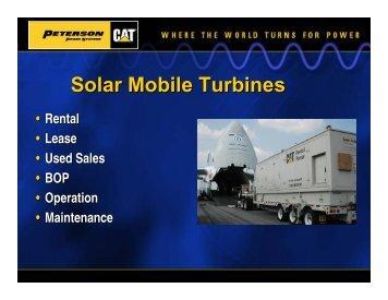 Rental Turbines - Peterson Power
