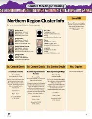 Northern Region Cluster Info - Utah Foster Care