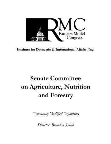 Senate Committee on Agriculture, Nutrition and Forestry - IDIA