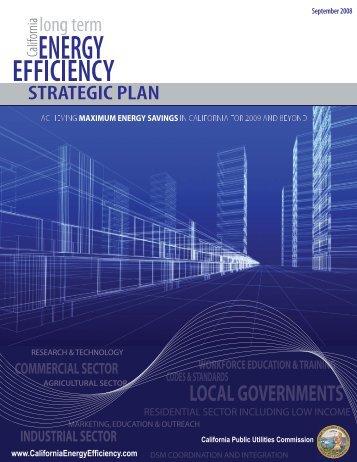 Long Term Energy Efficiency Strategic Plan - California Public ...