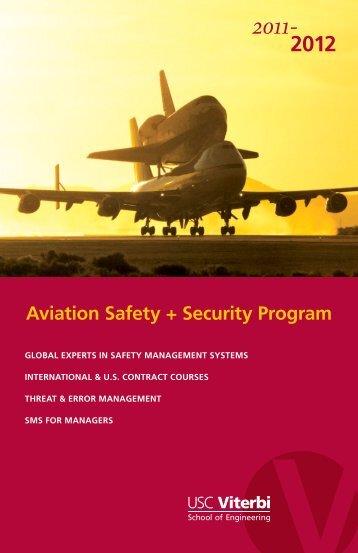 2012 Aviation Safety + Security Program - USC - Viterbi School of ...