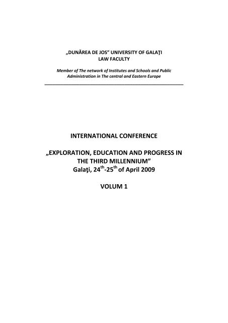 International Conference Facultatea De Drept