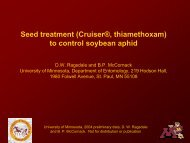 Lethal and Sublethal Effects of a Seed Treament for Soybean Aphid