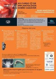 XI Curso de implantologia 2012.indd - Reservado