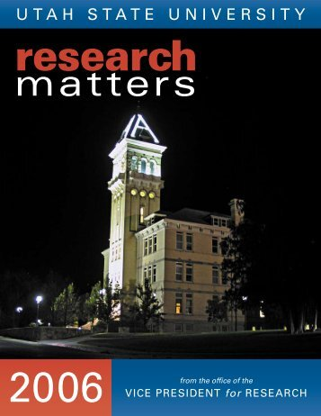 UTAH STATE UNIVERSITY - Research and Graduate Studies - Utah ...