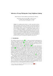 Inference of Large Phylogenies Using Neighbour-Joining