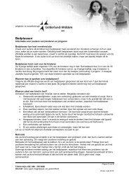 Zindelijkheid - Bedplassen - VGGM