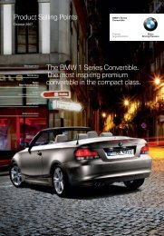 O lo Product Selling Points The BMW 1 Series Convertible ... - Invelt
