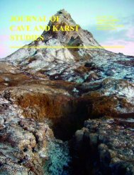 journal of cave and karst studies - Keck Science Department ...