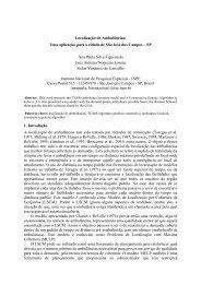 Uma aplicação para a cidade de São José dos Campos - SP