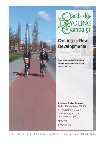 Cycling in New Developments - Cambridge Cycling Campaign