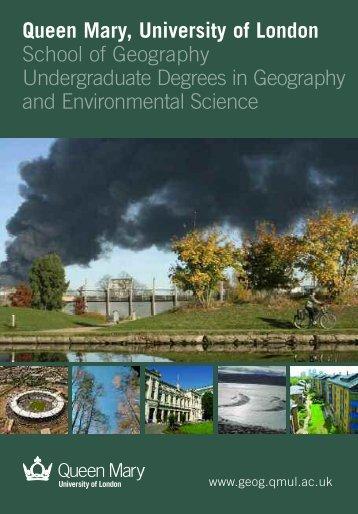 Undergraduate brochure - School of Geography - Queen Mary ...