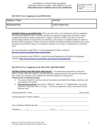 Fmla And Ada Changesfmla Form Leave Request Form Sample