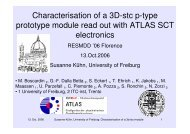 Characterisation of a 3D-stc p-type prototype module read out with ...