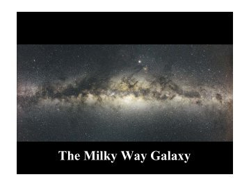 Components of the Milky Way