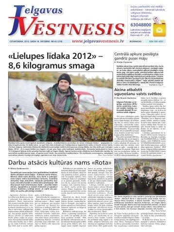 2012.gada 18.oktobris Nr.42(278) - Jelgavas Vēstnesis