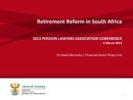 Download Presentation - Pension Lawyers Association of South Africa