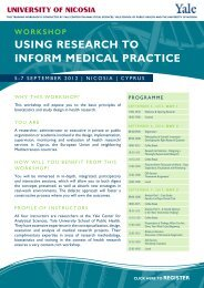 Using ReseaRch to infoRm medical PRactice - Student Intranet ...