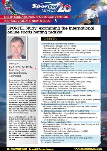 examining the International online sports betting market - Sportel