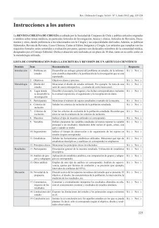 Instrucciones a los autores - Sociedad de Cirujanos de Chile